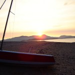 Sunset over Screel from Hestan Island